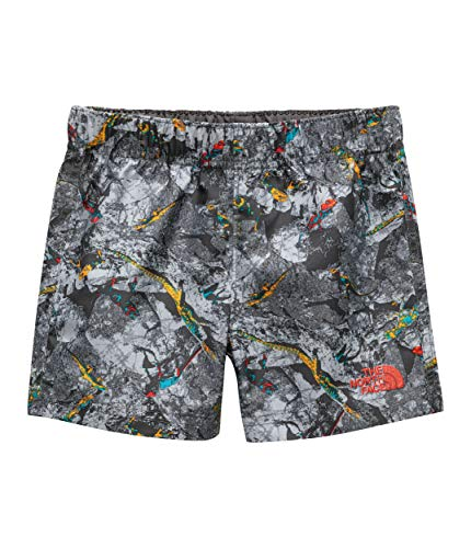 Face North Base Kids - The North Face Toddler Hike/Water Short, Graphite Grey Lizard Rock Print, Size 4T