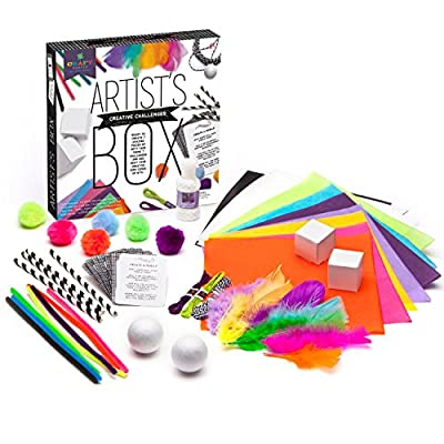 Craft-tastic – Artist's Box – Arts and Crafts STEAM Kit Includes 7 Creative Challenges: Toys & Games