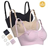 WETONG New Anti-Allergy Material Nursing Bras Super Soft and Breathable with Extra Bra Extenders & Clips