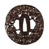 Shijian Iron Tsuba Sword Guard Carved Flowers Pattern For Samurai Katana Wakizashi Tanto