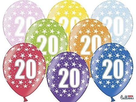 50 Globos Látex 30 cm número 20 cumpleaños 20 años: Amazon ...