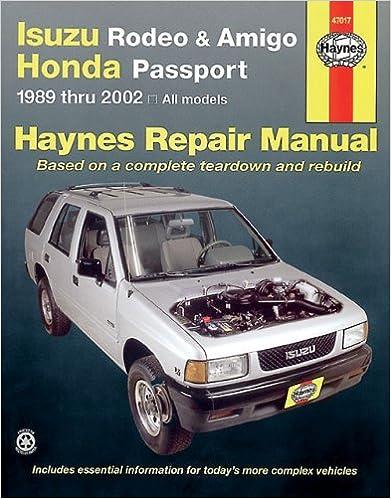 Isuzu rodeo amigo 89 02 haynes manuals haynes repair manuals isuzu rodeo amigo 89 02 haynes manuals haynes repair manuals 1st edition fandeluxe Gallery