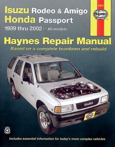 Isuzu Rodeo, Amigo '89-'02 (Haynes Manuals) (Haynes Repair Manuals) Isuzu Rodeo Manual