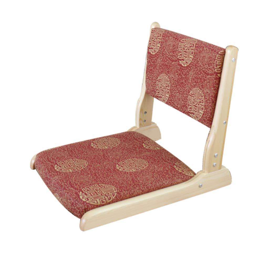 WUTRBYZ Folding Padded Floor Chair,Japanese Tatami Floor Chair Collapsible Back Support Yoga Meditation-I