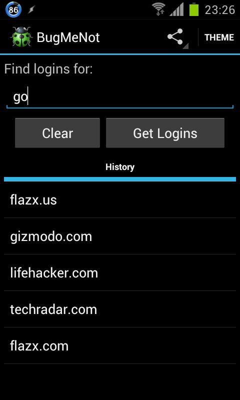 Chrome bugmenot Manage passwords