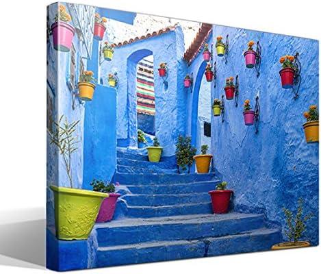 cuadro canvas Calle de Marruecos - 55cm x 40cm - Fabricado en España: Amazon.es: Hogar