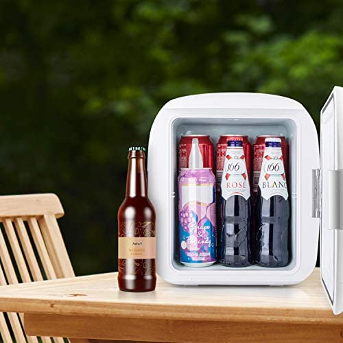 AstroAI Mini Fridge 9 Liter/12 Can Portable Electric Cooler and Warmer AC/DC for Bedroom, Food, Skincare, Breast Milk, Medications, Home Office and Travel