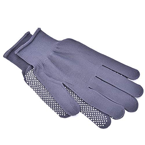 Kul-Kul - 2 Pairs Hair Straightener Curling Tong Hairdressing Heat Resistant Finger Gloves Skid Resistance Burn-proof Black Grey