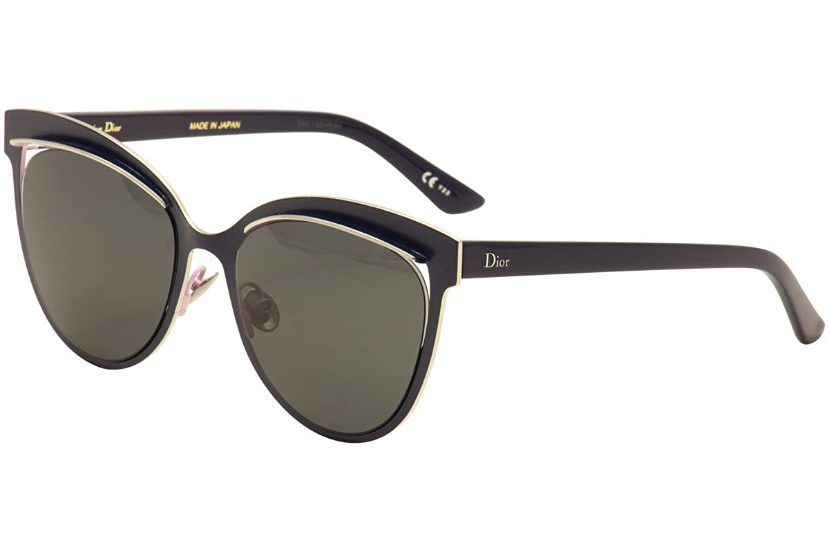 9c54304796 Amazon.com  Dior Inspired - JB3Y1 Titanium Blue Cat Eye Sunglasses 54mm   Clothing