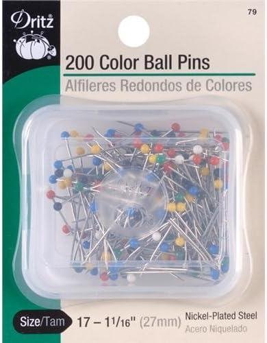 Dritz 45 Long Ball Point Pins 75 per Pack Size 24