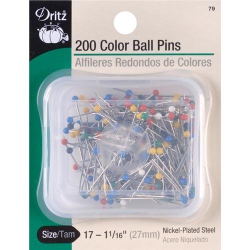 - Dritz ball point pins size 17 1.0625 inch 350 nickel plated steel pins in stackable box