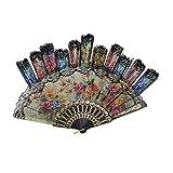 """Tomixxx (1 Dozen 12 Pieces Spanish Floral Folding Hand Fans Gift Size 9"""" Wholesale"""