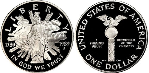 1989-S Proof United States Congressional Two Coin Set - Silver Dollar and Clad Half (Modern United States Proof Coin)