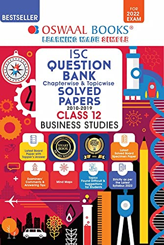 Oswaal ISC Question Bank Class 12 Business Studies Book Chapterwise & Topicwise (For 2022 Exam)