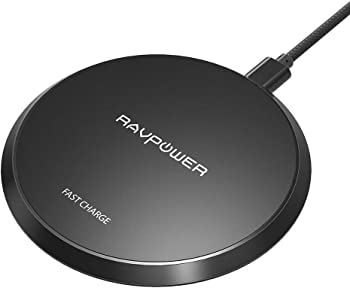 RAVPower Standard QI Wireless Charging Pad, Fast Wireless Charge for Qi-Enabled Phones