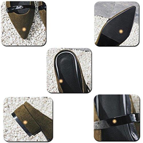 PBXP OL Pumps Spitz Zehengürtel Dekoration Chunky Low Heel Limited Edition Feminine Casual Schuhe EU Größe 33-40 , pink , 34