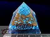 Charged Chakra New Orgonite Orgone Turquoise Pyramid Crystals Gemstones Copper Metal Mix Reiki Chakra