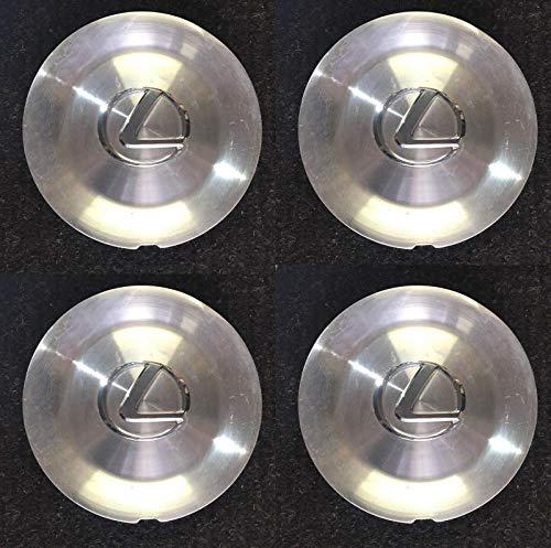 LEXUS Set of 4 OEM Brushed Aluminum Center Caps for 1998-2000 LS400 2052 74148b ()