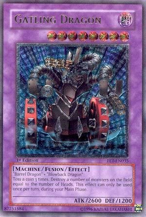 Flaming Eternity Single (Yu-Gi-Oh! - Gatling Dragon (FET-EN035) - Flaming Eternity - Unlimited Edition - Ultimate Rare)