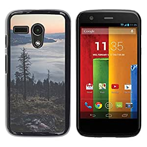 Paccase / SLIM PC / Aliminium Casa Carcasa Funda Case Cover - Tree Lake Mountain City Lights - Motorola Moto G 1 1ST Gen I X1032