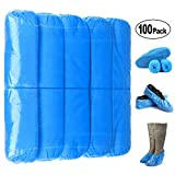 Shoe Covers, Disposable Shoe Covers - Durable, non-toxic, Recyclable Disposable Boot One Size Fits Most, Indoor - Outdoor Boot Covers Perfect for Medical Use, Housekeeping, Real Estate (100 Piece)