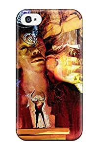 Iphone 4/4s Case Cover - Slim Fit Tpu Protector Shock Absorbent Case (neil Gaiman Artistic) 2863004K29470637