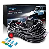 Automotive : MICTUNING HD 300w LED Light Bar Wiring Harness Fuse 40Amp Relay ON-OFF Waterproof Switch(2Lead)