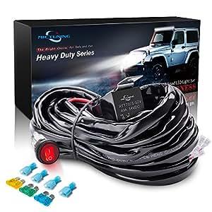 amazon com mictuning hd 300w led light bar wiring harness fuse rh amazon com OEM Wiring Harness Connectors Wiring Harness Diagram