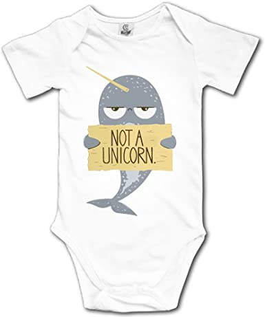 Infant Baby Girl Boy Cute Narwhal BodysuitRomper Jumpsuit Short Sleeve Bodysuit Tops Clothes