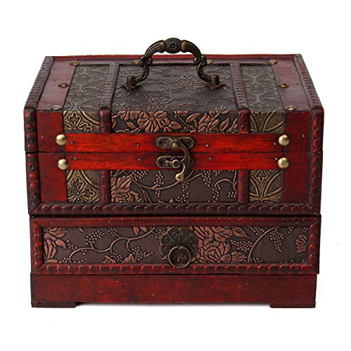 Antique Flower Jewelry Storage Container product image