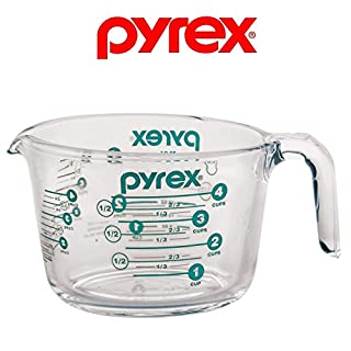 Pyrex 4-Cup Measuring Cup, Clear with Turquoise / Teal Measurements (B07CMFB8DP) | Amazon price tracker / tracking, Amazon price history charts, Amazon price watches, Amazon price drop alerts