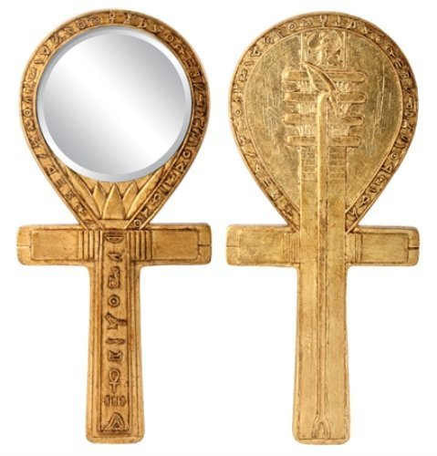 Ankh Egyptian Mirror - Djed Ankh Mirror Egyptian Decoration Accessory Decoration Collectible