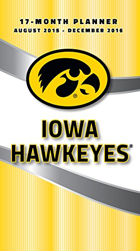 Turner Iowa Hawkeyes 17 Month Planner  August 2015   December 2016  3 5 X 5   8890528
