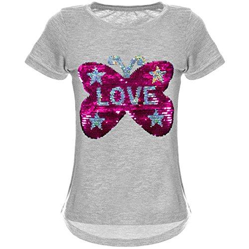 BEZLIT Meisjes T-shirt omkeerbare pailletten 22030