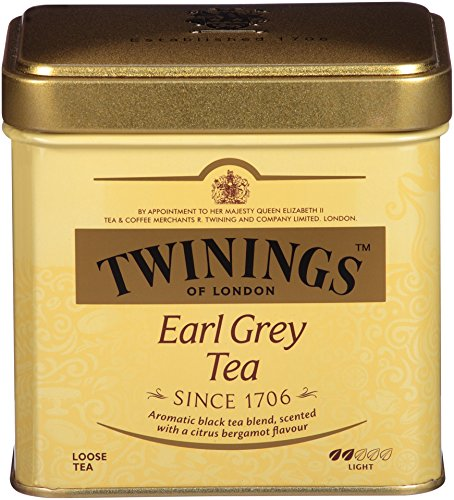 Twinings of London Earl Grey Loose Tea Tins, 3.53 Ounces (Pack of 6)