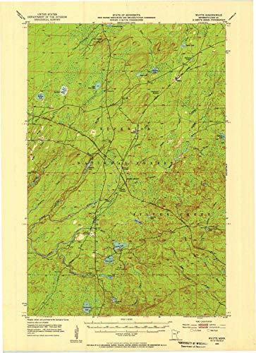 YellowMaps Whyte MN topo map, 1:62500 Scale, 15 X 15 Minute, Historical, 1953, Updated 1955, 27.23 x 21.53 in - Polypropylene