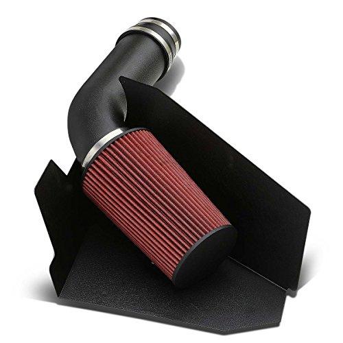 DNAMotoring AIP-2-HS-C109657L-SLSL Air Intake System and Heat Shield