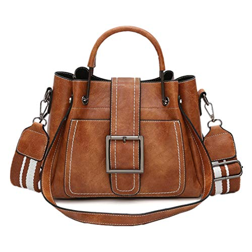 WEUIE Retro Women's Leather Shoulder Bags With Corssbody BagHandbag