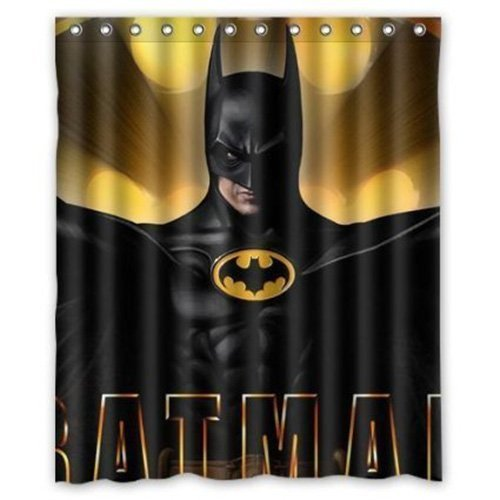 Amazon Batman Shower CurtainsPolyester Waterproof Curtain 12 Hooks Included Bathroom Accessories 72 X Home Kitchen