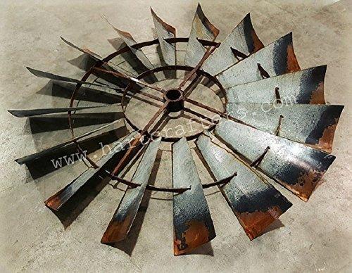 Rustic Windmill Blade Metal Wall Art (30 inch diameter)