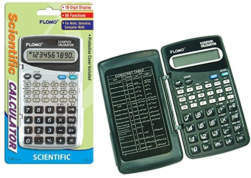 56 Function 10-digit Battery Operated Scientific Calculator 24 pcs sku# 1916179MA by FLOMO