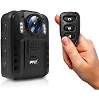 Pyle Premium Portable Body Camera, Wireless Wearable Camera, Person Worn Camera, Compact & Portable HD Body Camera, IR Night Vision, Built-in Rechargeable Battery, LCD Display, 16GB Memory (PPBCM9)