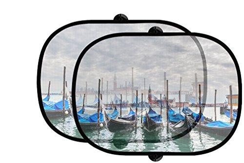 Gondolas Grand Canal 2Pcs Foldable Auto Window Sunshade - Canal In Shades