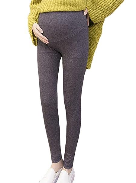 Nuevas mujeres embarazadas cómodos pantalones casuales, pantalones de maternidad de algodón modal ajustable cintura