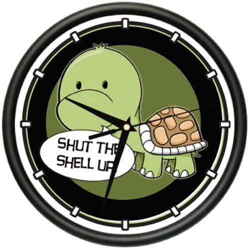 SignMission Wall Clock Shell Florida sea Turtle Beach Reptile Zoo Aquarium Gag Gift, Beagle