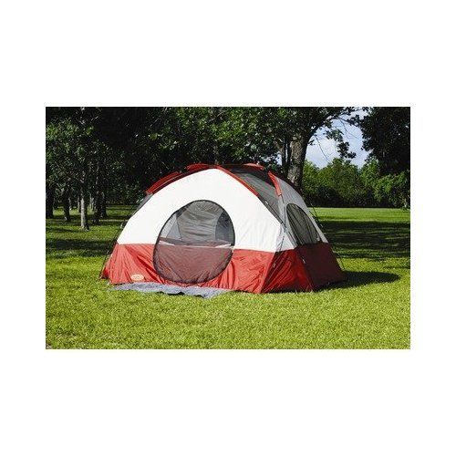 Texsport Clear Creek 3 Person Vestibule Tent (Red/Tan, 8-Feet X 10-Feet X 74-Inch), Outdoor Stuffs