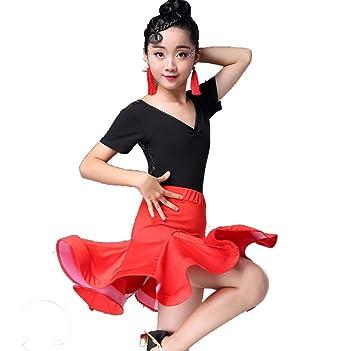 ZYLL Vestido de Baile Latino para niños, Vestido para niños ...