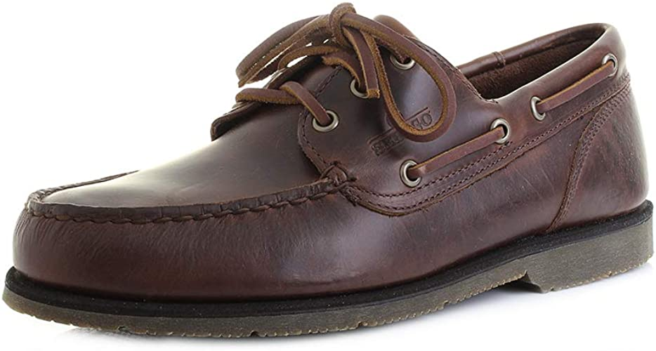 Sebago foresiders ciré cuir Chaussures bateau marine foncé