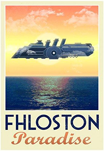 Fhloston Paradise Retro Travel Poster 13 x 19in (Leeloo 5th Element)