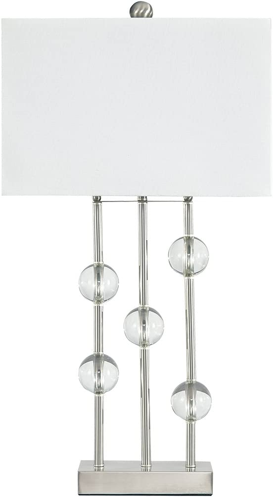 Ashley Furniture Signature Design - Jaala Table Lamp - Crystal Finished - Contemporary - Clear/Silver Finish